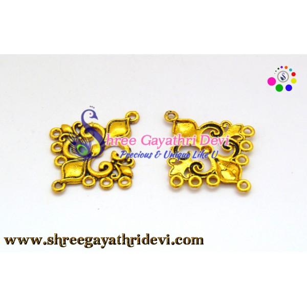 CHANDLIER EARRINGS - ANTIQUE GOLD - 35*20MM