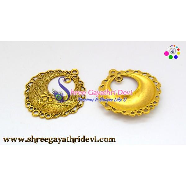 CHANDLIER EARRINGS - ANTIQUE GOLD - 40*35MM