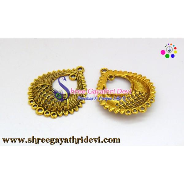CHANDLIER EARRINGS - ANTIQUE GOLD - 40*32MM