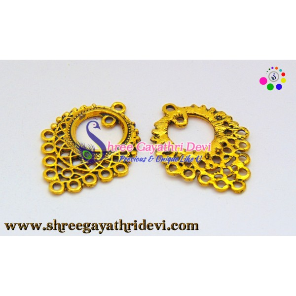 CHANDLIER EARRINGS - ANTIQUE GOLD - 34*25MM